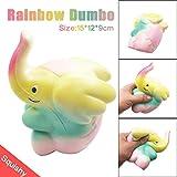 Ularma 15cm Rainbow Dumbo Crème Parfumée Squishy lente Hausse Squeeze Strap Enfants Cadeau Jouet