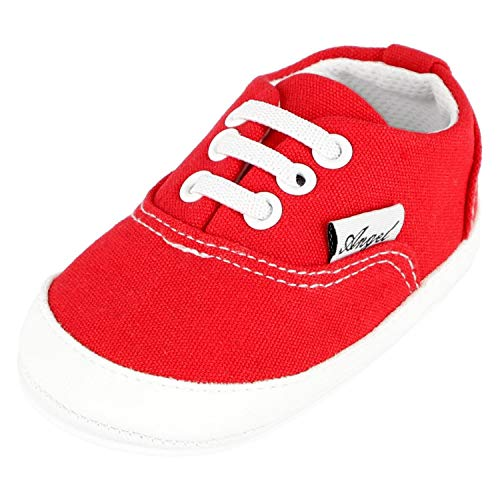 KREXUS Krabbelschuhe Baby Sneaker Angel Rot Gr. 0-6 Monate XB01600_0