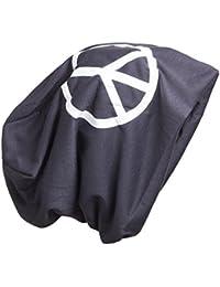 BRUBAKER pour homme ou pour femme bonnet tombant peace en coton avec motif imprimé