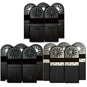 ZFE 15pcs Oscillant outil multi lame de scie-Set pour Worx Rockwell Fein Bosch Ryobi Dremel Makita Multimaster Multifunction outils