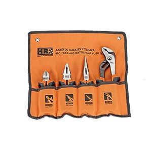 514Yxjn0l%2BL. SS300  - Alyco High Resistance 170510 - Juego 4 alicates de acero Cr-V, con mangos bimaterial, en caja de carton, Naranja