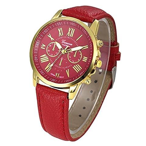 Frauen Armbanduhr - Kingwo Neue Damenmode Genf Römische Ziffern Faux