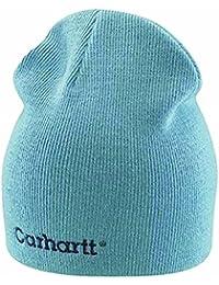 Carhartt Womens Rib Knit Beanie - Dusty Blue Ladies Solid Knit Hat CHWA007DYB