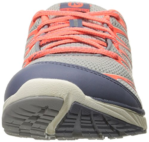 Merrell Bare Access Arc 4, Chaussures de Trail Femme Multicolore (Sleet/Vibrant Coral)