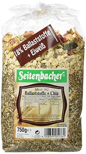 Seitenbacher Ballaststoff plus Chia Mischung, 3er Pack (3 x 750 g) (Erdbeer-joghurt-rosinen)