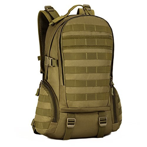 600D Nylon Militar Molle M/últiples Bolsillos Mochila Unisex para Senderismo Camping Monta/ñismo Viaje Athyior Mochila T/áctica Impermeable 35L