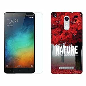 Printland Tempered Glass + Back Cover Combo For Xiaomi Redmi Note 3