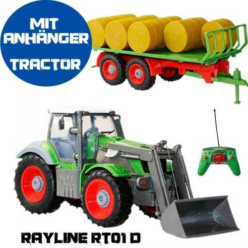 RC Tractor Rayline RT01D mit Anhänger, Nutzfahrzeug, 1:28, agro fahrzeug