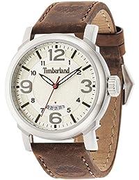 Timberland 14815JS/07 - Reloj para Caballero analógico con Pantalla Beige y Correa de Piel