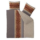 Bettwäsche Baumwolle 200x220 CelinaTex 5000438 Fashion Adda beige braun Wendedesign