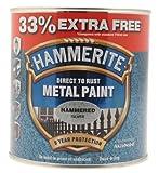 Hammerite 5158236Metallfarbe in gehämmertem Silber-Ton–750ml plus 33% Extra