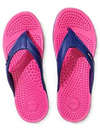 FLITE Accupressure Stylish Slippers For Women Fl-291 Blue Pink 3UK (BBH-FL-291-3-1_$p)