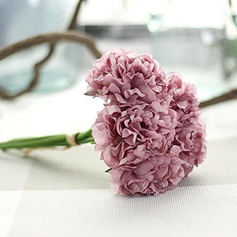 Longra Wohnaccessoires & Deko Kunstblumen Künstliche Seide Kunstblumen Pfingstrose Blumen