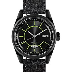 MEDOTA Grancey Men's Automatic Water Resistant Analog Quartz Watch - No. 2705 (Black/Green)