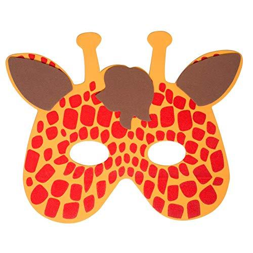 Werbewas 1x Schaumstoff Masken mit Giraffe Tiermotiv - als Karnevals, Halloween, Geburtstags-Party Kostüm