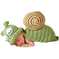 AKAAYUKO Bebé Recién Nacido Hecho A Mano Crochet Foto Fotografía Prop (Verde Caracol)