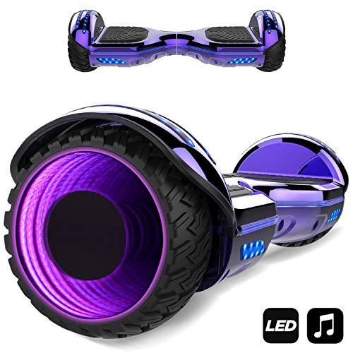MARKBOARD Hoverboard,Elektro Scooter 6,5 LED Elektro Scooter E-Balance E-Skateboard Elektroroller Bluetooth LED (lila1)