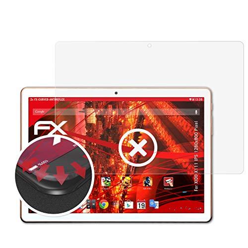 atFolix Schutzfolie passend für XIDO X111 IPS 1280x800 Pixel Folie, entspiegelnde & Flexible FX Bildschirmschutzfolie (2X)