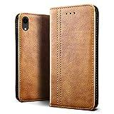 SLEO Coque pour iPhone XR(6.1 Pouces),Etui Portefeuille en Cuir Luxe Vintage...