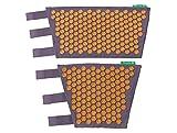 Set de Jambe Champ de Fleurs - Soulagez vos douleurs aux jambes grâce à l'acupression (Mauve - Orange)