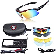Mens Sunglasses Sports Cycling Sunglasses Color Changing Polarized Sunglasses UV Protection for Cycling Climbi