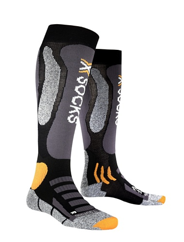 X-Socks Funktionssocken Ski Touring Silver, Black/Anthracite, 45/47, X020024