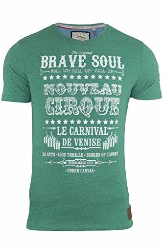 Brave Soul Herren T-Shirt Green Marl