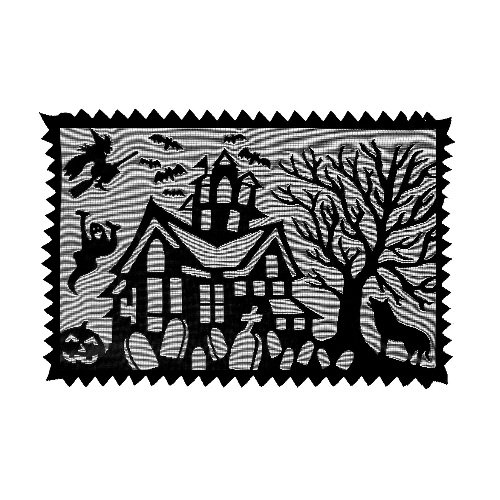 Heritage Lace Spooky Hollow 14-Inch by 20-Inch Placemat, Black, Set of 2