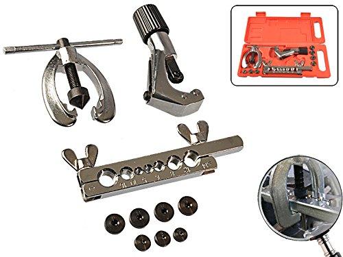 Preisvergleich Produktbild 10 teiliges Set Bördelwerkzeug für Bremsleitung 90° Bördel, E-Bördel und F-Bördel