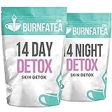 Burnfatea 14 Day Skin Detox Tea   Weight Loss Slimming Tea   Clear