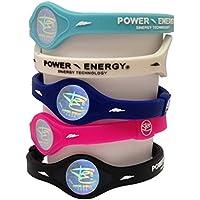 Preisvergleich für Power Energie Balance Bands, Silikon Sport Armband, Hologramm Armband Handgelenk Band, mit natürlichen Mineralien...