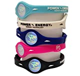 Power Energy Balance Bands, Silicon Sports Wristband, Hologram Bracelet Wrist Band, Infused with Natural Minerals & Negative Ions