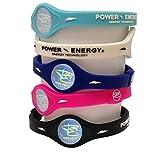 Power Energie Balance Bands, Silikon Sport Armband, Hologramm Armband Handgelenk Band, mit natürlichen Mineralien und Negativen Ionen, dunkelblau