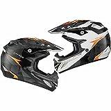Shox MX-1 Shadow Enduro Motocross Helm M Schwarz Weiß Orange
