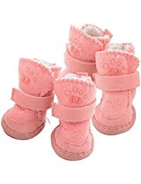 MPinkKicode Cotton Snow Cozy Anti-Slip Lovely Warm Adjustable Shoes Boots