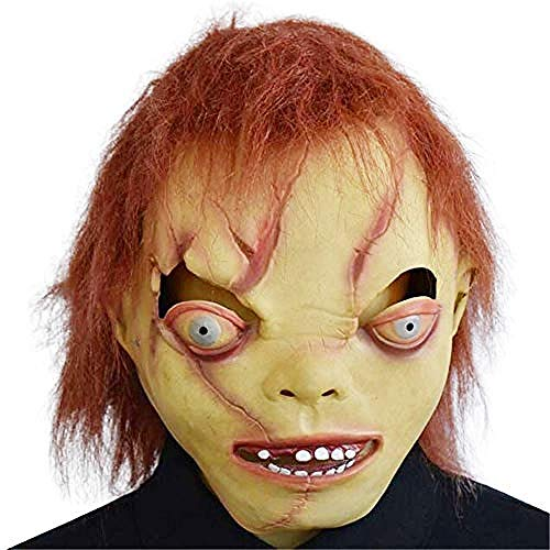 Kid Freddy Kostüm Krueger - Halloween Latex Kopf Maske Bad Kid Horror Grimasse Maske Kostüm Party Requisiten,Gruselige Maske