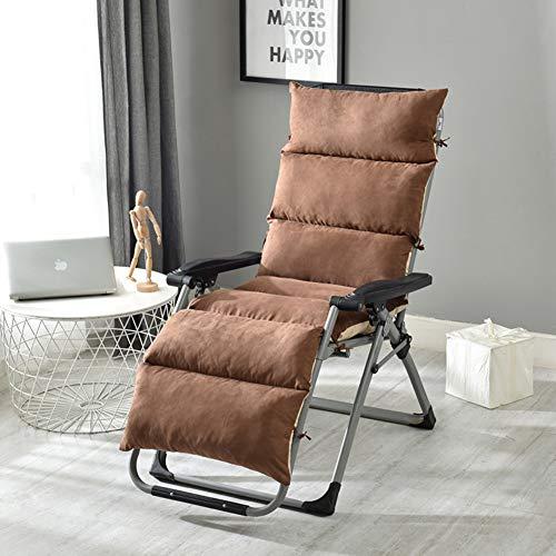 ALIPC Thicken Patio Chaise Liege Sitzkissen,atmungsaktiv Faltbar Waschbar Stuhlkissen Lounge Chair Sitzpolster Sofa Bodenmatte(kein Stuhl)-e 125x50cm(49x20inch) -