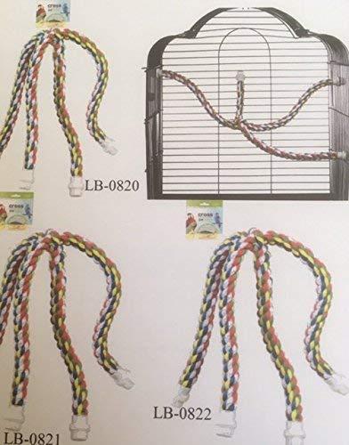Cuerda Cruz Percha Grande - Adecuado grandes periquitos/loros