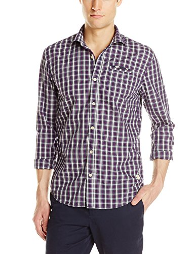 Scotch & Soda Denim Check Shirt, Dessin B Dessin B