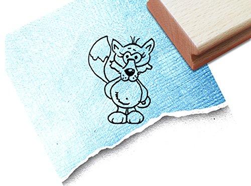 Stempel - Schöner Motivstempel Fredi FUCHS (stehend) - Bildstempel für groß und klein - Kinderstempel zum Ausmalen - von zAcheR-fineT