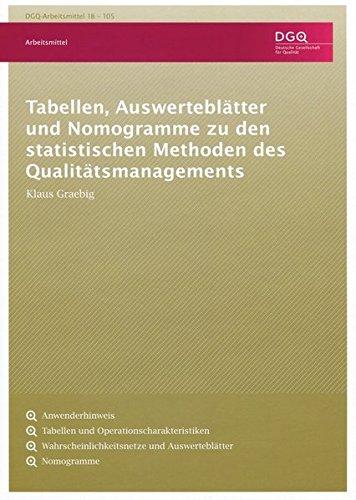 Tabellen, Auswerteblätter und Nomogramme zu den statistischen Methoden des Qualitätsmanagements (DGQ-Band)