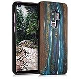kwmobile Funda para Samsung Galaxy S9 Plus - Carcasa de [Madera] - Case Trasero Protector [Duro] con diseño de Ondas