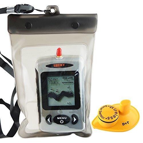 Lucky FFW-718 Wireless wasserdicht Portable Sonar Fish Finder mit Punkt Matrix 40m Reichweite (FFW-718 White)