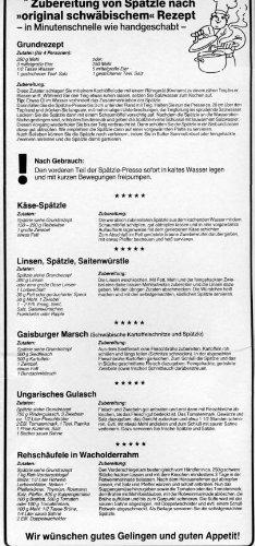 Kull Spätzle-Schwob Spätzlepresse - 5