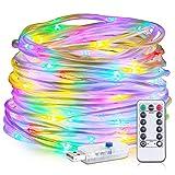 zerproc Guirlande tube lumineuse USB LED Tube Lumineux 10m 8 Modes Imperméable IP65 Parfaite Bon Rendu Romantique pour Décoration Intérieure Extérieure(Lumière Multi Couleur)...