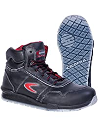 Cofra 78470-000 - Seguridad Botas Puskas correr, zapatos de seguridad S3, Cuero Negro, Tamaño 44, Negro