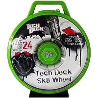 Tech Deck - Sk8 Wheel - Green - Display Case to Transport 24 Finger Boards - includes 1 Single Board