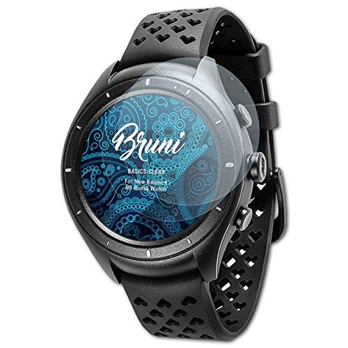 Bruni Schutzfolie für New Balance NB RunIQ Watch Folie, glasklare Displayschutzfolie (2X)