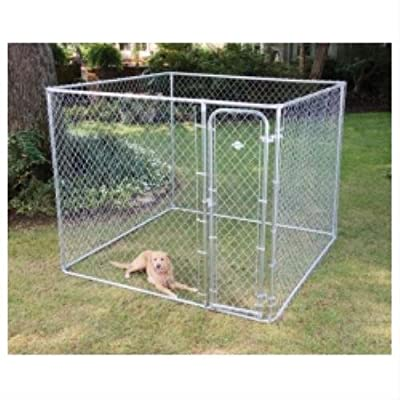 Dog Boxed Kennel in Galvanised Size: 228.6cm (L) x 228.6cm (W) x 182.88cm (H)