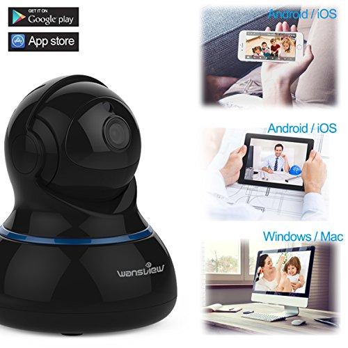 Wansview Videocamera di Sorveglianza, 1080P Telecamera Wi-fi Interno di Sicurezza Per Bambini/Anziani/Pet,Camera IP con PTZ, Audio Bidirezionale e Visione Notturna Q3S (Nero) … - 6